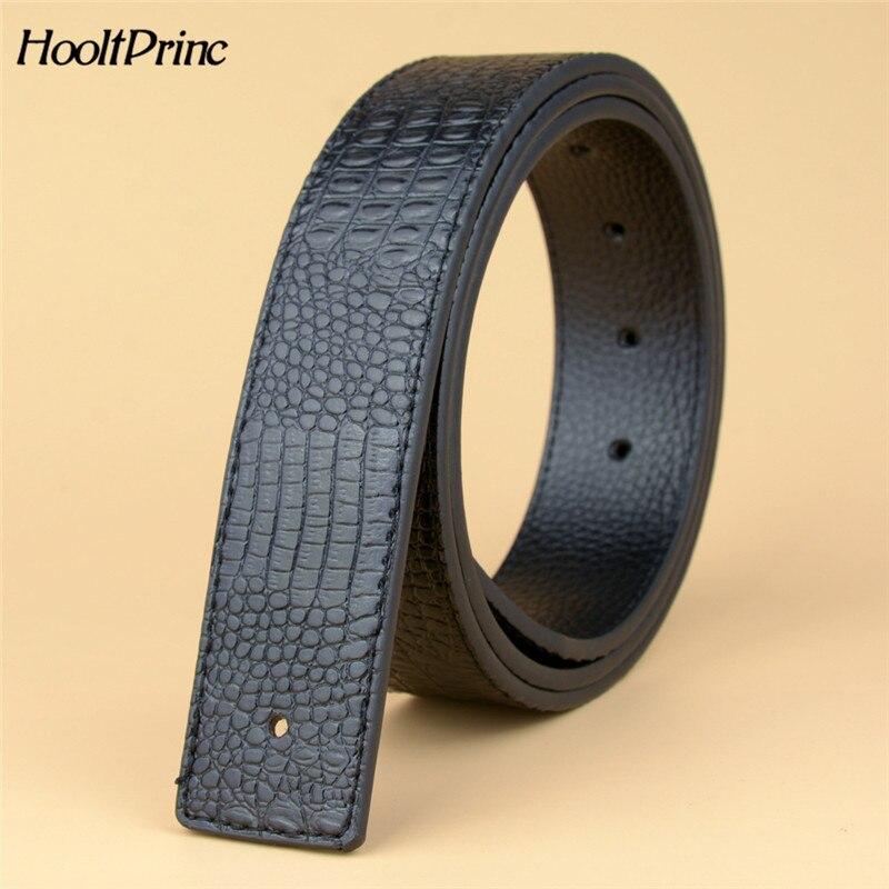Brand2019 Newest Men's PU Leather Belt Crocodile Grain Leather High Brand Luxury Men Belts Large Size Male Belt