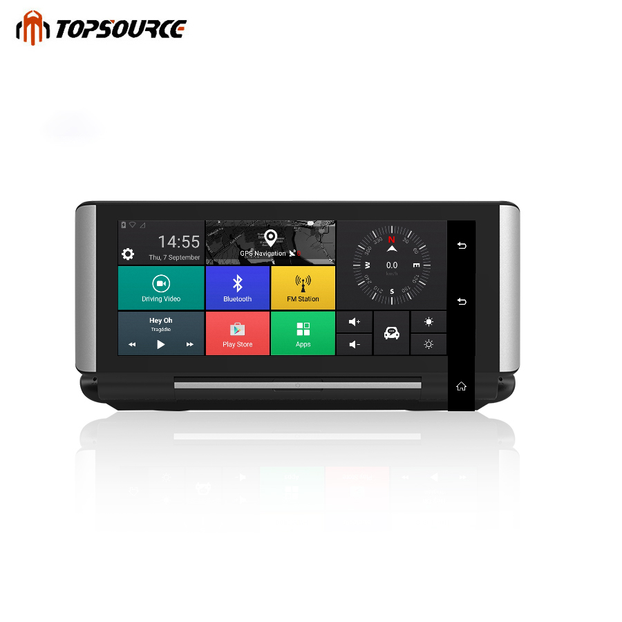 TOPSOURCE 6,86 3g/4G Автомобильный dvr gps навигации ADAS Android 5,1 1 г/г 16 г Wi Fi Full HD 1080p видео регистраторы регистратор регистраторы