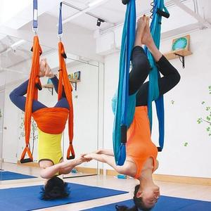 Image 2 - Balançoire de gymnastique de Yoga de Traction aérienne Anti gravité de trapèze dinversion de hamac de décompression de haute résistance accrochant 10 couleurs