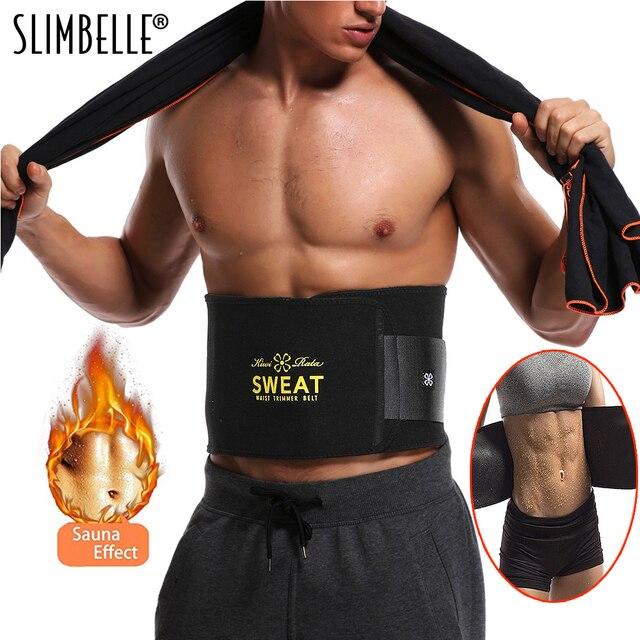 665aa1ba088 Sweat Premium Waist Trimmer for Men   Women Hot Shapers Sauna Waist Trainer  Corset Body Shaper Black Slimming Belt