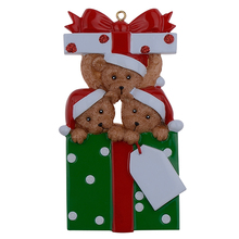Wholesale Resin Bear Family Of 3 Christmas Tree Ornaments Personalized Gifts That Write Your Own Name For Holiday And Home Decor