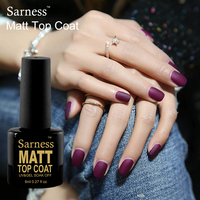 Sarness UV Gel Primer Soak Off Matt Top Coat Nail Gel Polish 8ML Non Cleaning Long Lasting Matte Top Coat LED Nails Gel Lacquer