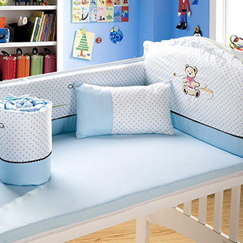 2017 Baby Bumpers Baby Bedding 4pcs/Sets 100% Cotton Babies Cot Carton Print Protector Of Baby Cribs Cama Infantil Pink/Blue детский аксессуар для волос none 12 baby infantil 2f0059 24pcs
