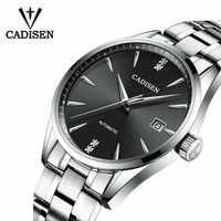 CADISEN Movt Nh35 zegarek męski sukienka markowa moda zegarek mechaniczny ze stali nierdzewnej Relogio Masculino 5ATM wodoodporny C1033