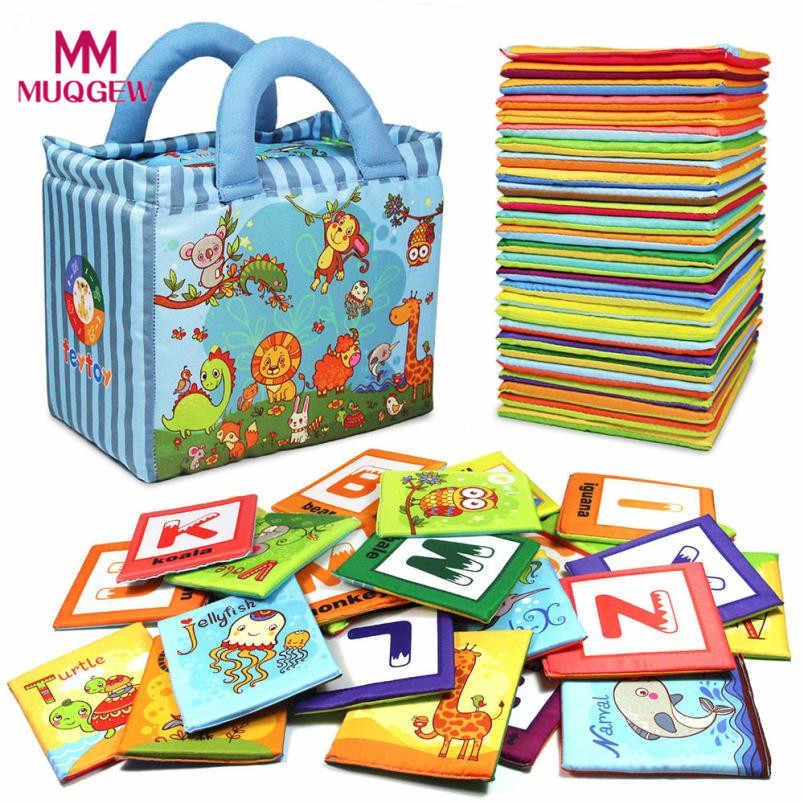 Детские игрушки серия «Зоопарк» 26 шт. мягкие алфавит обучающие карты с тканевой сумкой для детей Детские памяти Пара игры игрушки dropshippi # BILL