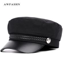 2018 nuevo gorra militar Casual de alta calidad hombre mujer boina de  algodón sombreros planos capitán gorra camionero Vintage n. 91b3eeaae0d