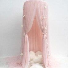 Детская спальная москитная сетка, навес, покрывало для кровати, для девочек, для комнаты, Сказочная занавеска, постельные принадлежности, купол, палатка, декор для комнаты, 3 двери, навес, сетка