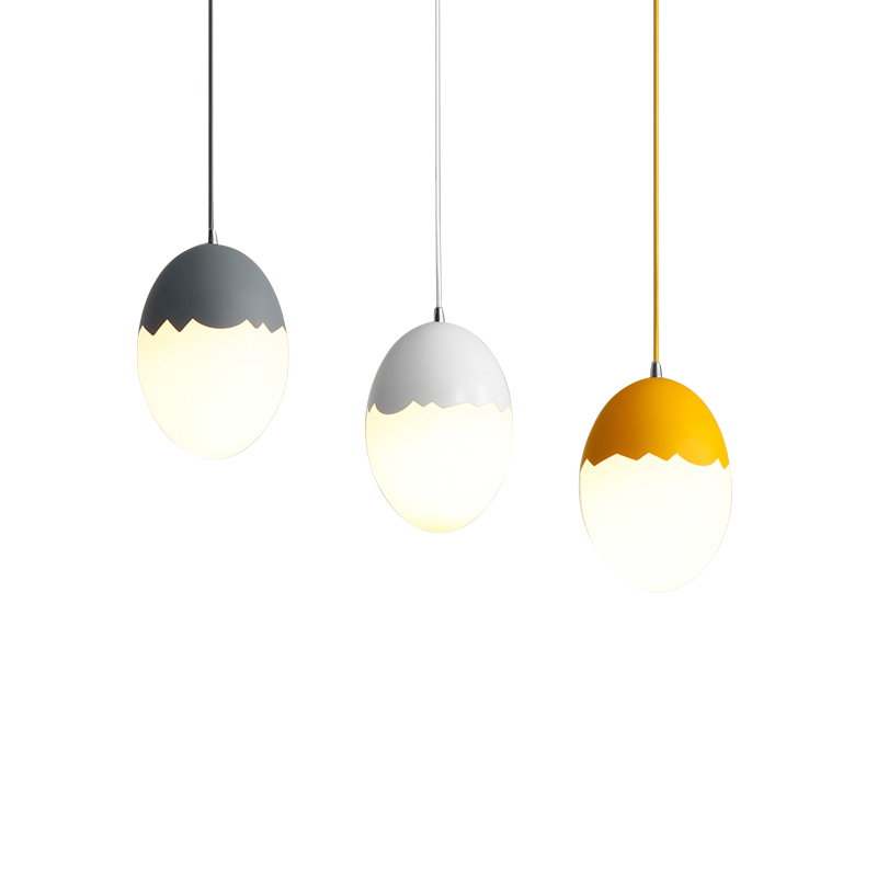 Nordic creative pendant light colorful egg model dining room Kids room coffee shop clothing shop single head LED hanging lamp