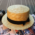 New Fashion Summer Straw Hats for Women Pork Pie Hat with Ribbon Gilr Sun Beach Caps [HUB245]