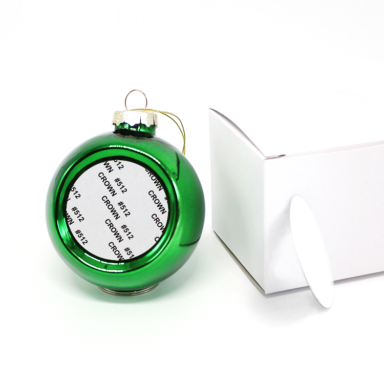 20pcs In Stock 8cm Blank Sublimation Christmas Decoration