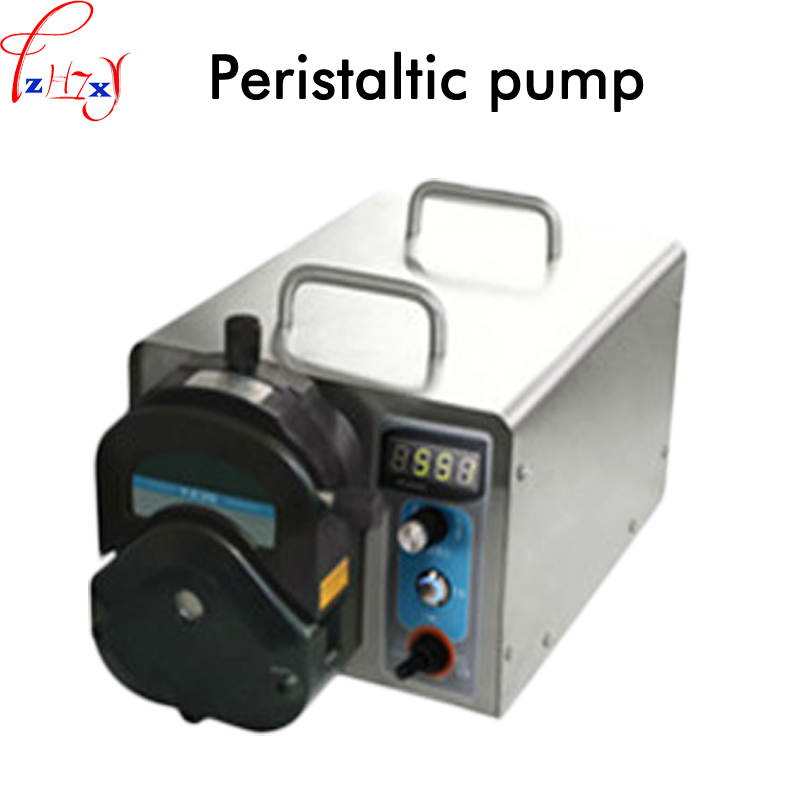 Industrial type speed adjustable peristaltic pump large flow peristaltic pump automatic distribution of filling liquid 220V industrial peristaltic pump n6 3l 0 211 3600 ml min 0 1 600 rpm rs485