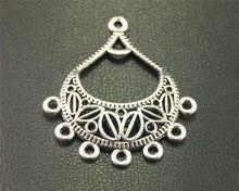 Popular chandelier charm findings buy cheap chandelier charm 20pcs antique sliver chandelier charm handmade earrings jewelry findings 34x30mm a1918 mozeypictures Gallery