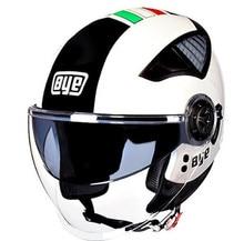BYE Motorcycle Helmet DOT Retro Vintage Cruiser Chopper Scooter Cafe Racer Cascos Moto Helmet 3/4 Open Face Helmet все цены