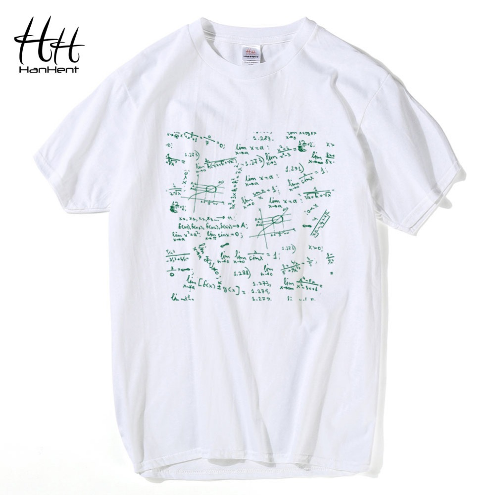 hanhent hot printing mathematic math formula male tshirts summer tops mens t shirt homme short. Black Bedroom Furniture Sets. Home Design Ideas