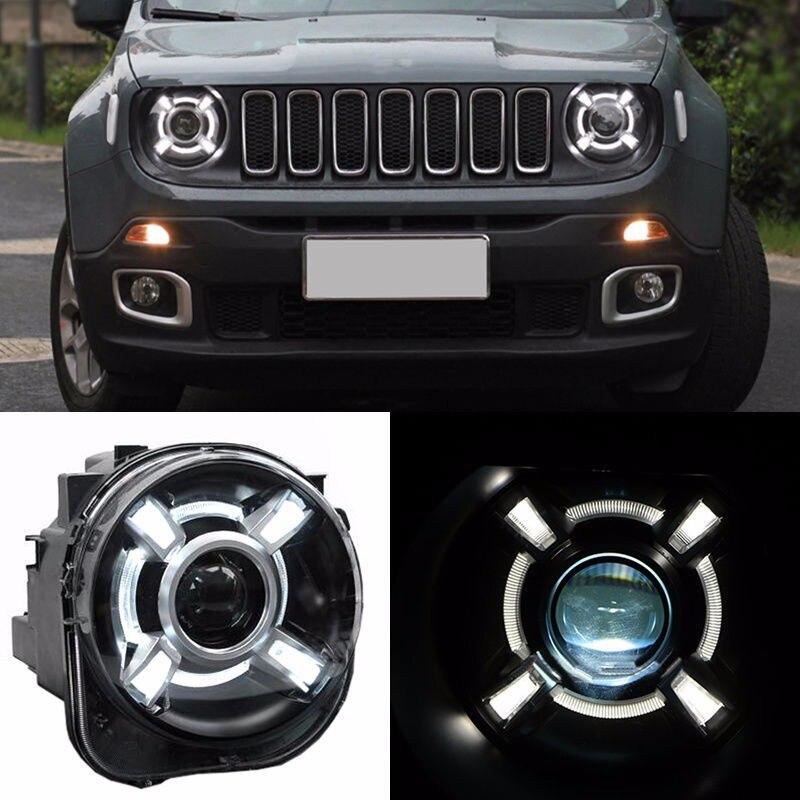 com drl e bi-xenon projetor para jeep