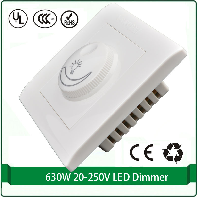 Silicon controlled rectifier dimmer switch 110V 220v Max 630W led ...