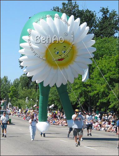 AO015 HOT SALE 7m Inflatable helium flower balloon /giant flying flower advertising balloon/airplane/airship/ flying Cartoon