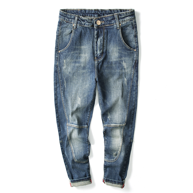 Cheap Wholesale 2019 New Autumn Winter Hot Selling Men's Fashion Casual  Denim Pants MP422