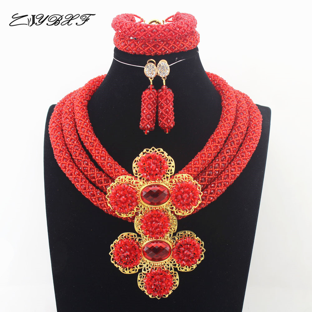 2019  African Beads Jewelry Sets Nigerian Wedding bridal Jewelry Sets Full Beads Indian dubai womenn necklace Sets N00052019  African Beads Jewelry Sets Nigerian Wedding bridal Jewelry Sets Full Beads Indian dubai womenn necklace Sets N0005