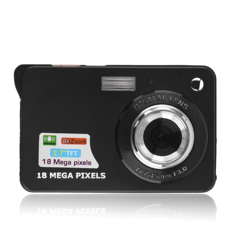 Prix pour Noir HD 2.7 ''TFT LCD Appareil Photo Numérique Caméscope TF carte JPEG/AVI CMOS Senor 2.7'' TFT 8x Zoom Anti-shake en Haute qualité
