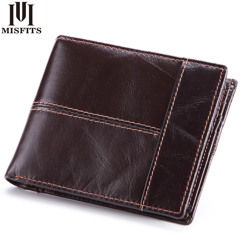 Brand 100% Genuine Cowhide Leather Men Wallets Vintage Purse with Card Holder Short Male Wallet ID card wallet 2017 new cowhide genuine leather men wallets fashion purse with card holder hight quality vintage short wallet clutch wrist bag