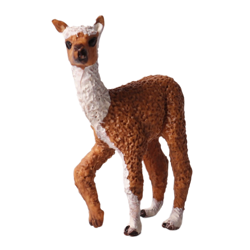 Alpaca Figurine Toy Wild Animal Solid Static Model Alpaca Plastic Children'S Toy Hand-Made Ornaments