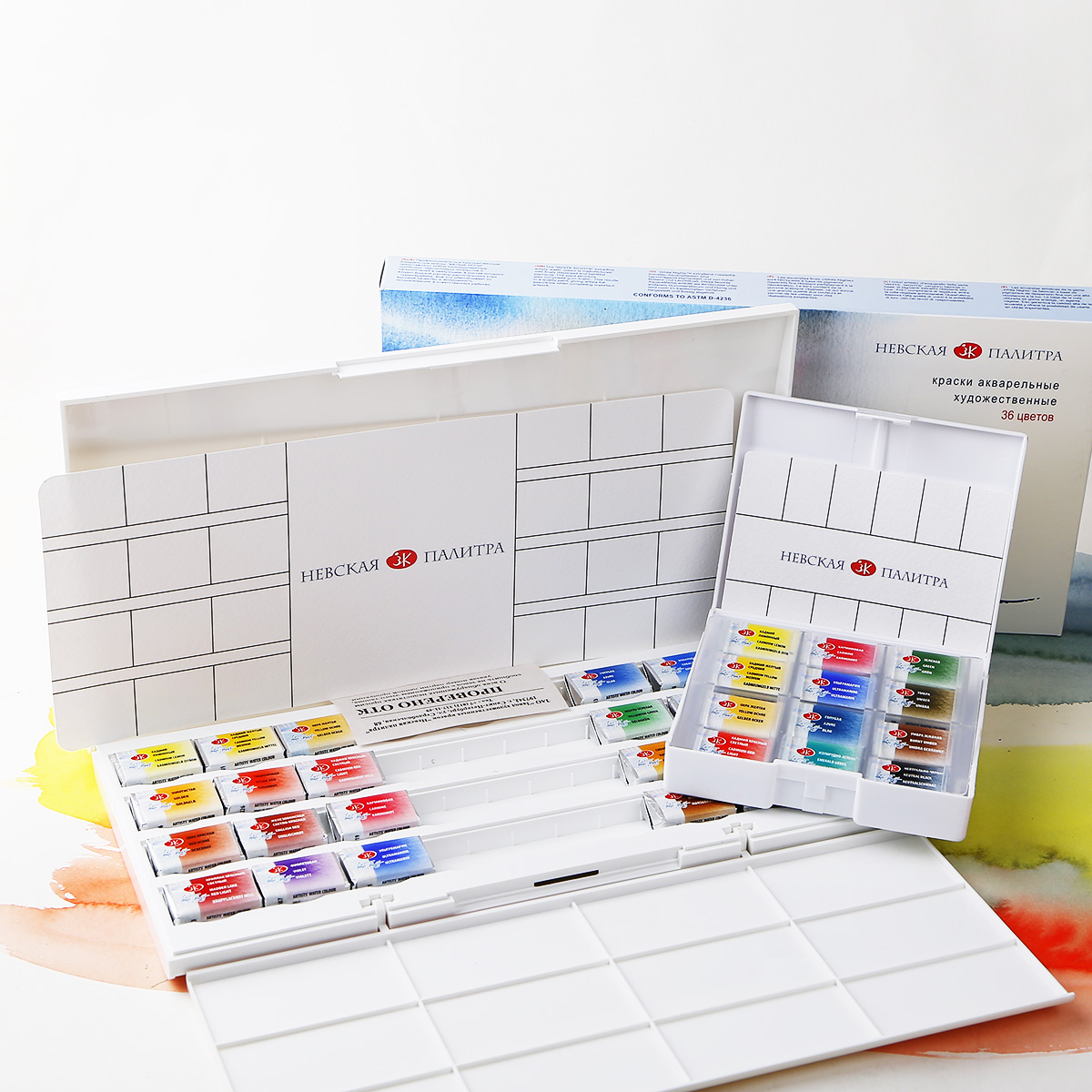 Russian White Night Solid Watercolor 16 Color Artist 36 Color Solid Watercolor 24 Color Student Watercolor Pigment watercolor twist swimsuit