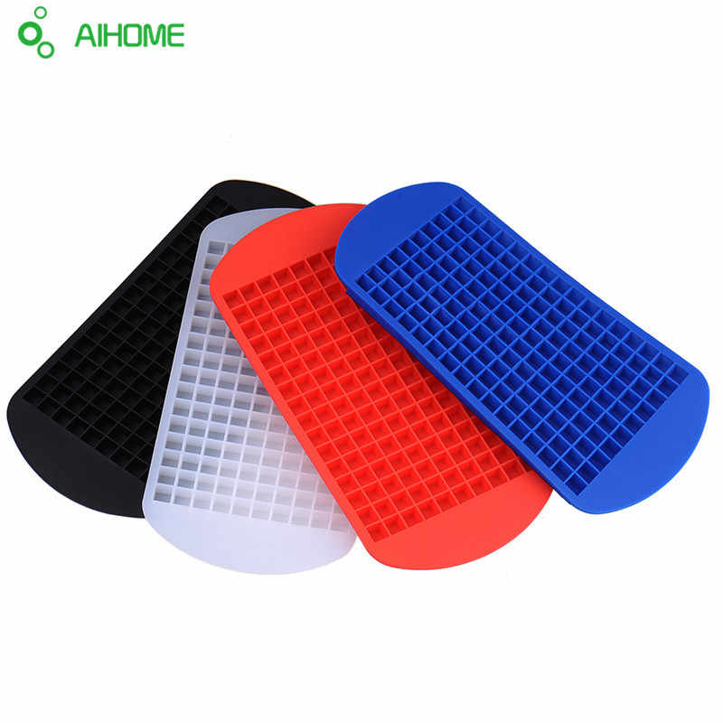 160 Grids DIY Creative Small Ice Cube Mold Square Shape Silicone Ice Tray Fruit Ice Cube Maker Bar Kitchen Accessories 2018 New