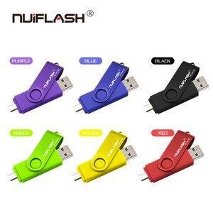 Image 5 - Nuiflash 2 in 1 OTG USB Flash Drive 128GB 64GB 32GB 16GB 8GB Pen drive Smart Phone External Storage Pen Drive Android USB Stick