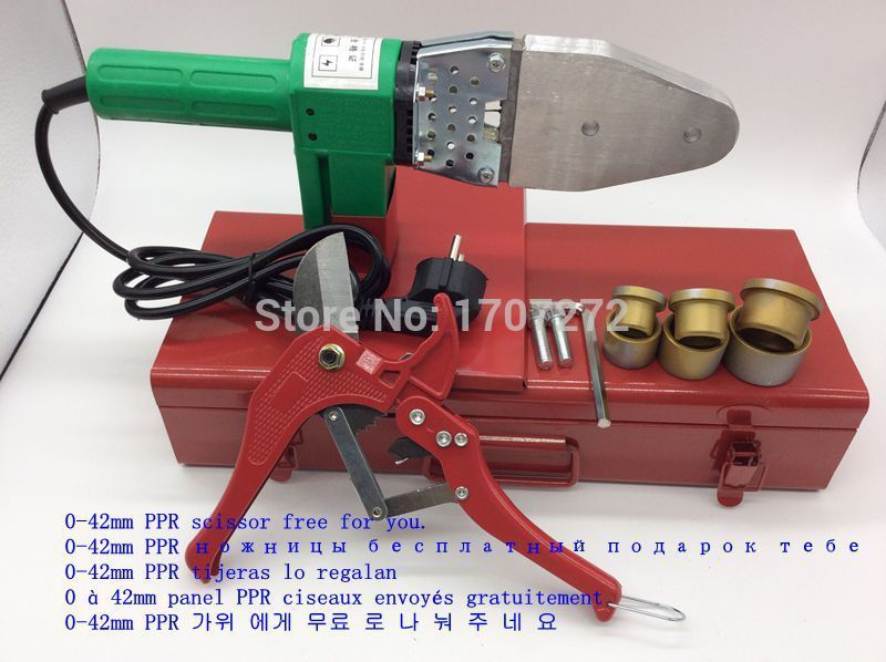 Free Shipping Full Automatic Heating plastic pipe welder AC 220V 600W, 20-32mm hot plastic welding,ppr scissor as a gift free shipping plumber tool with 42mm cutter 220v 800wplastic water pipe welder heating ppr welding machine for plastic pipes