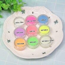6g Pigment Fluorescent Slime Filler Powder Paint DIY Glitter Neon Phosphor Nail-Glitter Glow
