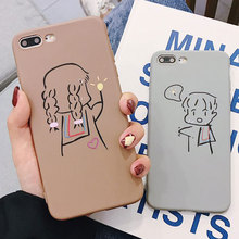 Couples Cover TPU Soft Case For iphone 7 XR X XS Xs Max 8 Plus Cases For iphone 6s Plus 6 Plus Fashion Women Anti-knock Cover цена и фото