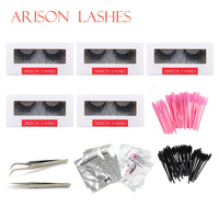 Arison Lashes 2018 False Eyelash mink lash Grafting Practice Curl Tweezer Tools Set Bag For Eye Lash Graft bag