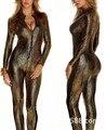 S-XL Caliente Lencería Sexy Vestido Del Mono de Látex Pvc Zentai Traje de Las Mujeres Negro Catsuit Pole Dance Ropa Nightclub Lady Body