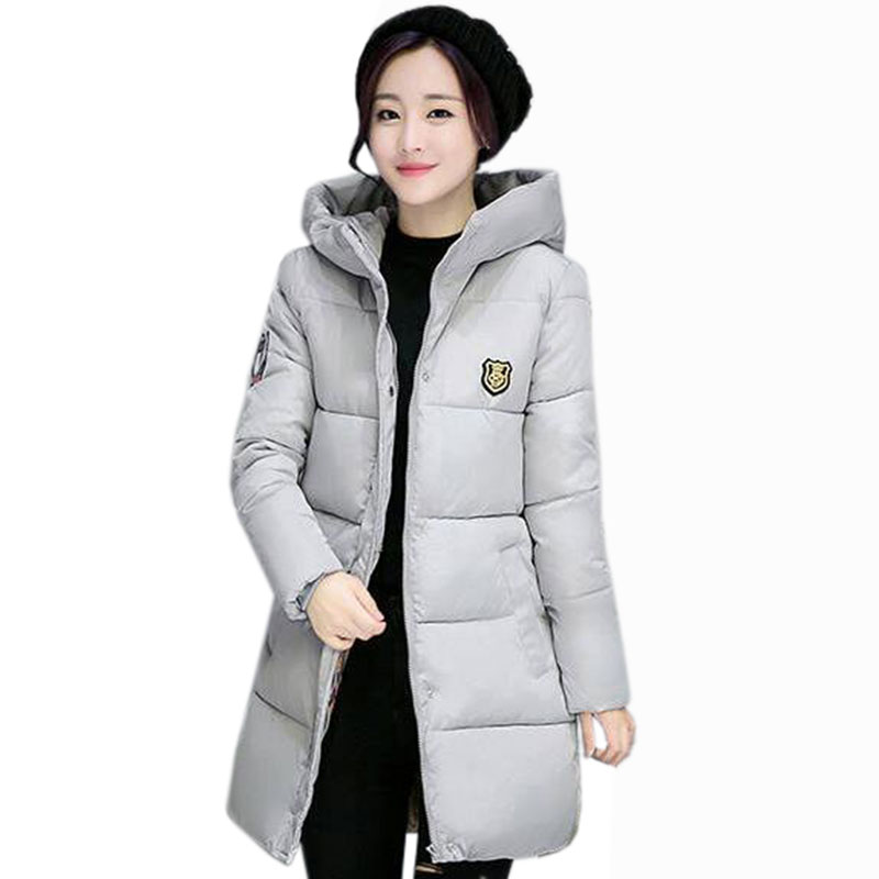 2017 New   Parkas   Women's Winter Coat Thickening Jackets Turtleneck Warm hooded Cotton Padded Coats Outwear Female Overcoat QH0490