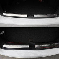 1Pair Stainless Steel Door Sill Rear Protector Scuff Plate Cover Decoration For Jetta MK6 Sedan 2011