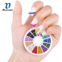 Nail Art strass 12 couleurs en acier perle goujons pour ongles conception roue charmes 3D Nail Art décorations fournitures ongles Accessoires