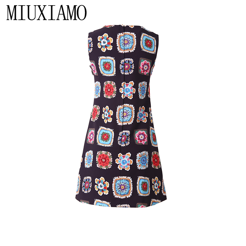 3787e25863d8de Drucken Blume Frauen Diamanten 2019 Neueste Vestido Luxuriöse Miuximao Casual  Hohe Frühlingamp  Qualität Kleid Eleghant Sommer OkXiZTwulP