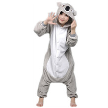 2017 New Unisex Adult Soft Koala Bear Pajamas Animal Cosplay Costume Onesie Sleepsuit Sleepwear Cute Grey Blue Koala Hot Sale