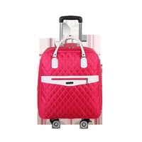 20 Inch Nylon Waterproof School Bag Luggage with Wheels Multifunction Trolley Carry on Suitcase Travel Rolling Trolley Backpack
