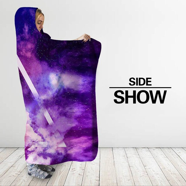 Colorful Galaxy World Hooded Blanket 3