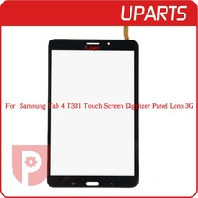 Top Quality For Samsung Galaxy Tab 4 8.0  T331 3G Wifi Version Black White Touch Screen Glass Free Shipping+tracking number
