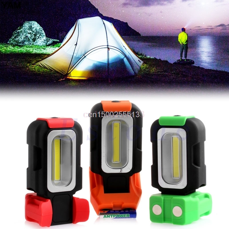 1x COB LED Camping Lamp Emergency Magnetic Work Light Tent Inspection Hand Torch