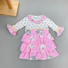 Sleeveless 100% Cotton Baby Girls  Outfits Infants  Children flower girl princess dress Ruffle Dress Kids Clothing infant flower
