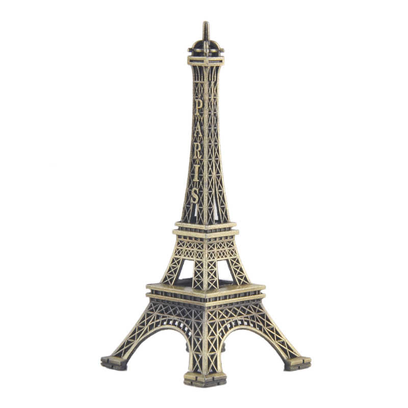 1 PC Rumah Meja Hiasan 8/15 Cm Paris Eiffel Tower Figurine Patung Vintage Model Seni Kerajinan Hadiah Kreatif souvenir Hitam
