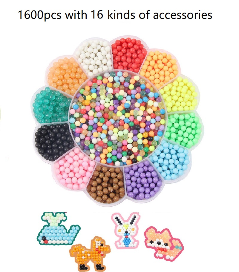 DIY Magico Water Beads sticky perler beads Puzzle Children Educational Toys  Creative Water Toys-in Puzzles from Toys & Hobbies on Aliexpress com |