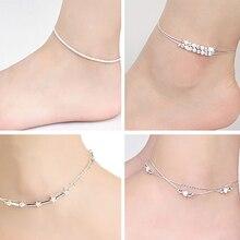 Women Silver Chain Anklet Bracelet Barefoot Sandal Beach Foot Jewelry 74PC
