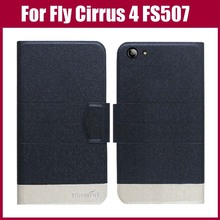 Fly Cirrus 4 FS507 Case New Arrival 5 Colors Fashion Flip Ultra-thin Leather Protective Cover For Fly Cirrus 4 FS507 Case