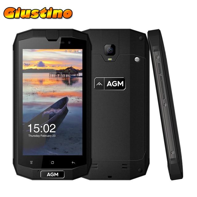 Original AGM A1Q IP68 Waterproof Mobile Phone IP68 5.0' 4GB+64GB Qualcomm MSM8916 Quad Core 13.00MP OTG NFC android 7 Smartphone