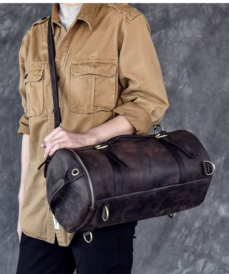 man travel bag mountaineering backpack men bags hand-Crazy Oli Genuine leather Large capacity bucket shoulder bagman travel bag mountaineering backpack men bags hand-Crazy Oli Genuine leather Large capacity bucket shoulder bag